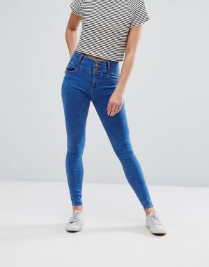 New Look Мягкие джинсы скинни. Цвет: синий