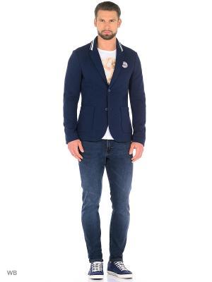 Пиджак TOM TAILOR. Цвет: синий