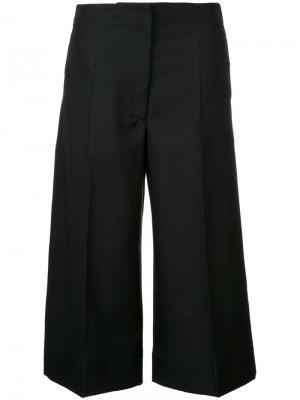 Укороченные широкие брюки Lemaire. Цвет: чёрный