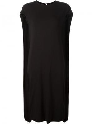 Платье-миди свободного кроя Audra. Цвет: чёрный