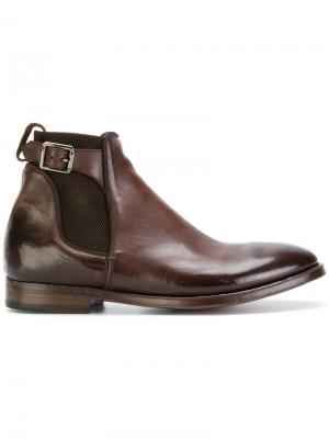 Ботинки челси с ремешками Alberto Fasciani. Цвет: коричневый