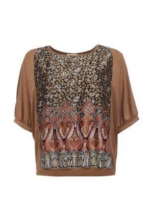 Блуза Bassini. Цвет: коричневый
