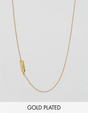 Gorjana Ожерелье со знаком зодиака Весы. Цвет: золотой