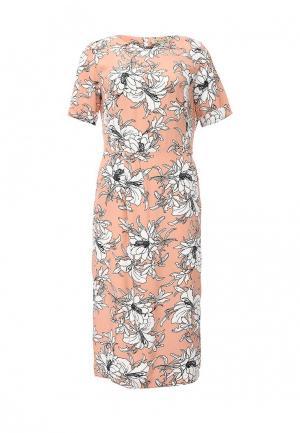 Платье Devore. Цвет: коралловый