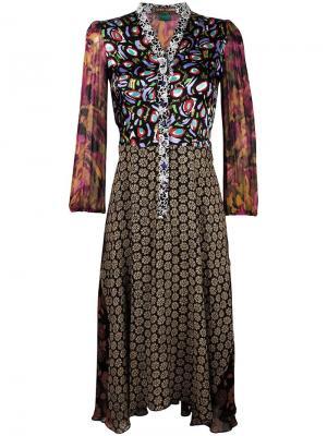 Платье-рубашка с узором Duro Olowu. Цвет: чёрный