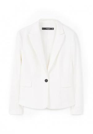 Пиджак Mango. Цвет: белый