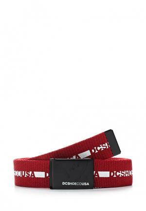 Ремень DC Shoes. Цвет: красный
