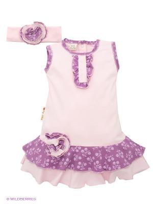 Платье Lucky Child. Цвет: розовый
