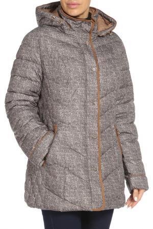 Полуприлегающая куртка с капюшоном Vlasta. Цвет: 8113 коричневый