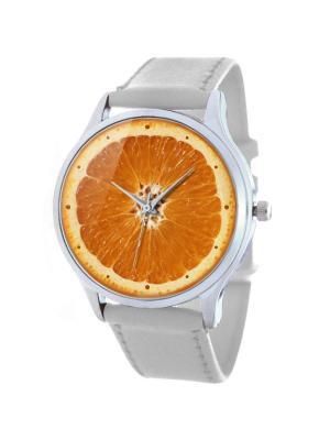 Дизайнерские часы Апельсин Tina Bolotina. Цвет: оранжевый