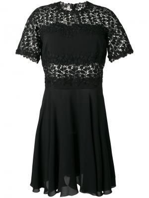 Расклешенное платье Giambattista Valli. Цвет: чёрный