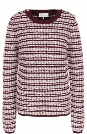 Вязаный пуловер с круглым вырезом Carven. Цвет: бордовый