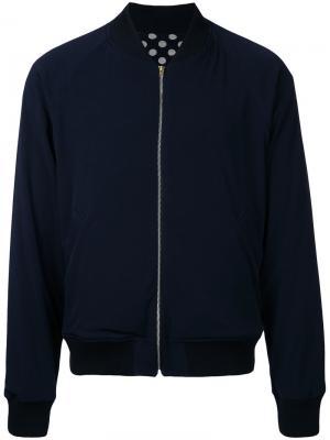 Двухсторонняя куртка-бомбер Soe. Цвет: синий