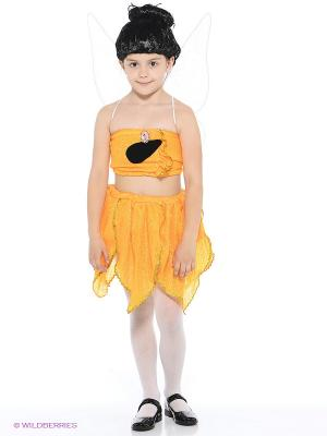 Карнавальный костюм Фея Иридесса Батик. Цвет: оранжевый