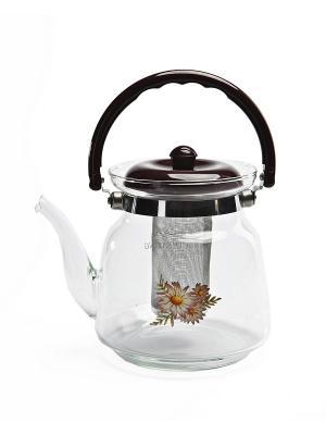 Чайник заварочный стеклянный BRADEX. Цвет: прозрачный