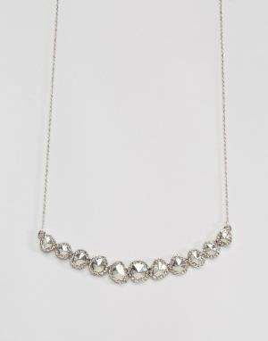 House of Harlow Серебристое ожерелье. Цвет: серебряный