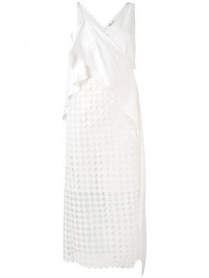 Платье с драпировкой Diane Von Furstenberg. Цвет: белый