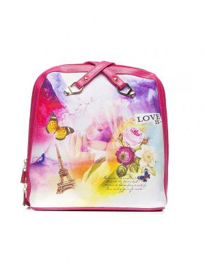 Сумка-рюкзак AnnA Wolf. Цвет: малиновый, бежевый, белый