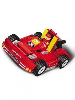 Конструктор SuperBlock Большие гонки Супер машина XL Склад Уникальных Товаров. Цвет: красный
