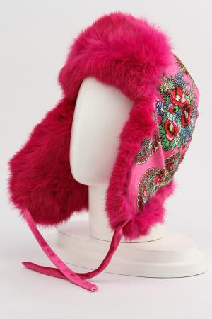 Шапка-ушанка ROMAX. Цвет: розовый мех