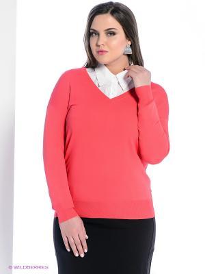 Пуловер Vis-a-vis. Цвет: коралловый