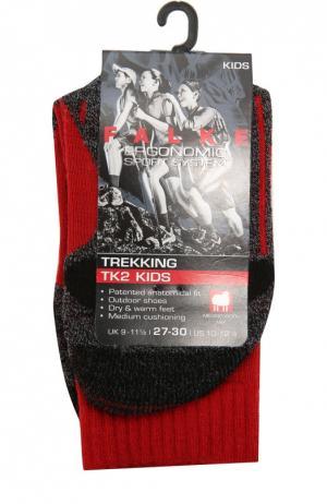 Спортивные носки с шерстью Falke. Цвет: красный