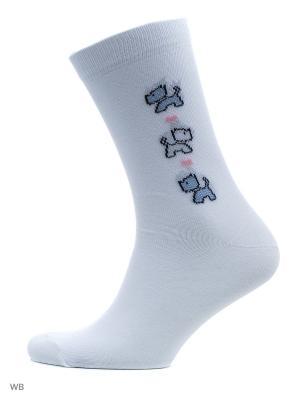 Носки, 4 пары Malerba. Цвет: белый
