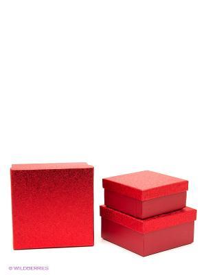 Коробка картонная набор из 3-х VELD-CO. Цвет: красный
