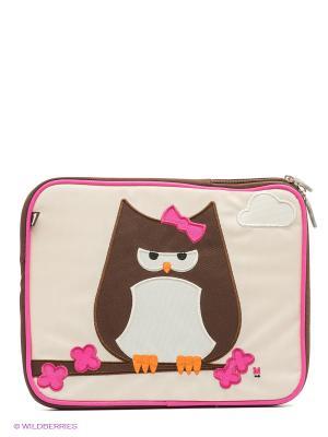 Чехол для планшета Papar-Owl Beatrix NY. Цвет: коричневый, молочный, розовый