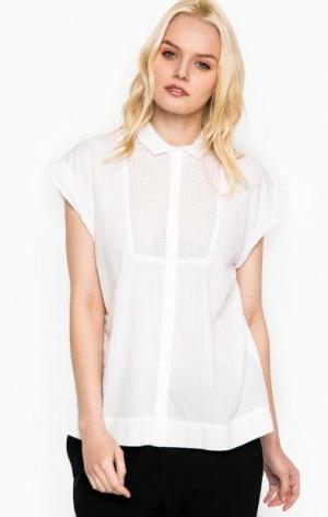 Белая рубашка свободного кроя DRYKORN. Цвет: белый
