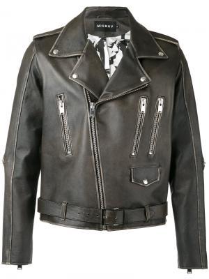 Байкерская куртка Desire Misbhv. Цвет: чёрный