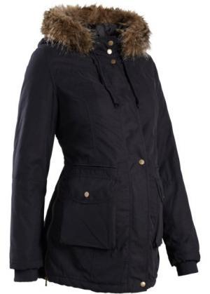 Мода для беременных: куртка с капюшоном (черный) bonprix. Цвет: черный