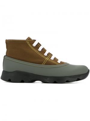 Двухцветные кроссовки Marni. Цвет: коричневый