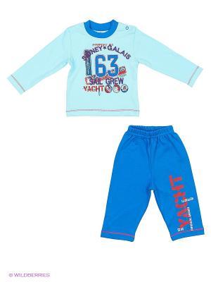 Кофточка со штанами PEPELINO. Цвет: голубой