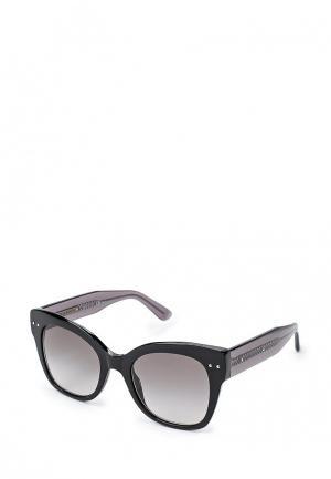 Очки солнцезащитные Bottega Veneta. Цвет: черный