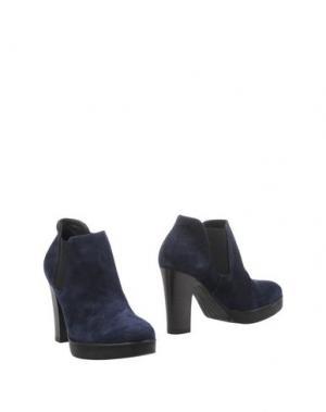 Полусапоги и высокие ботинки DONNA PIÙ. Цвет: темно-синий