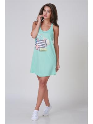 Ночная сорочка Pastilla. Цвет: светло-зеленый, светло-голубой