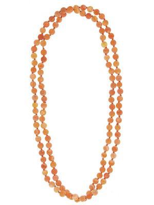 Бусы Infiniti. Цвет: оранжевый