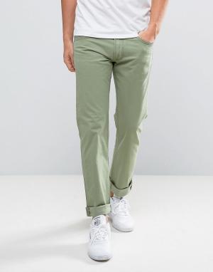 Lee Зеленые прямые джинсы Daren. Цвет: зеленый