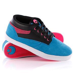 Кеды кроссовки высокие  Chaveta Blue/Black/Pink Osiris. Цвет: розовый,черный,голубой