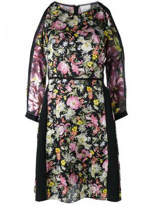 Платье с цветочным принтом 3.1 Phillip Lim. Цвет: чёрный