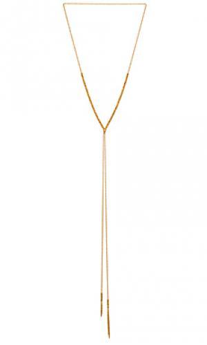 Подгоняемое ожерелье laguna gorjana. Цвет: металлический золотой