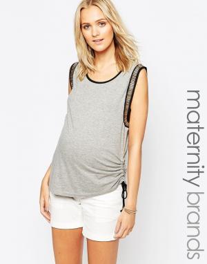 Ripe Топ свободного покроя для беременных Maternity. Цвет: серебряный