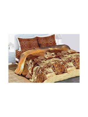 Постельное белье Любимый Дом. Цвет: коричневый