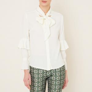 Рубашка с воланами SISTER JANE. Цвет: белый