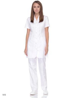 Халат медицинский MediS. Цвет: белый