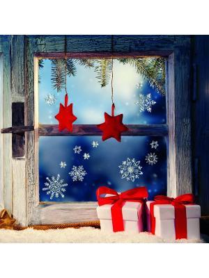 Виниловая наклейка  Искрящиеся звезды, 14 шт DECORETTO. Цвет: голубой, белый
