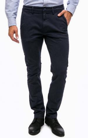 Зауженные брюки из денима Lee. Цвет: синий
