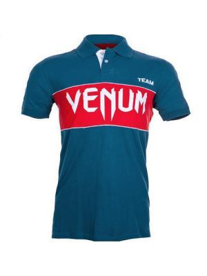 Футболка-поло Venum. Цвет: синий, красный