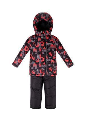 Комплект (куртка+полукомбинезон) REIKE. Цвет: черный
